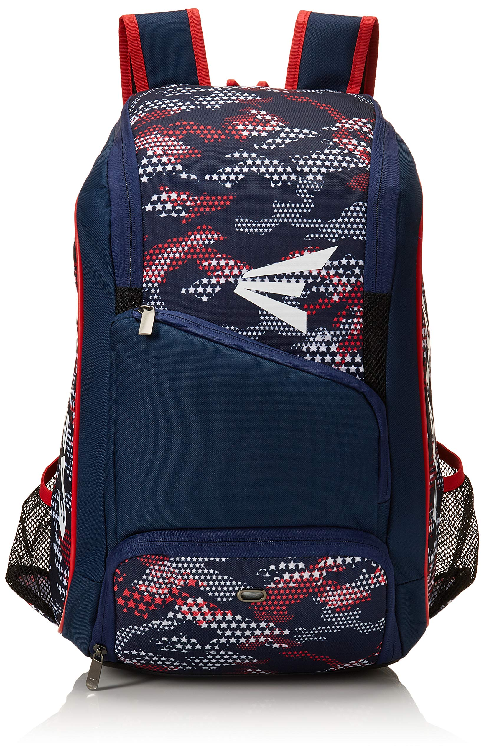 EASTON GAME READY Bat & Equipment Backpack Bag | Baseball Softball | 2019 | Stars & Stripes | 2 Bat Pockets | Vented Main Compartment | Vented Shoe Pocket | Zippered Valuables Pocket | Fence Hook by Easton