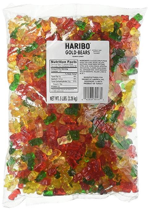Haribo Gummi Candy, Goldbears Gummi Candy, sac de 5 livres