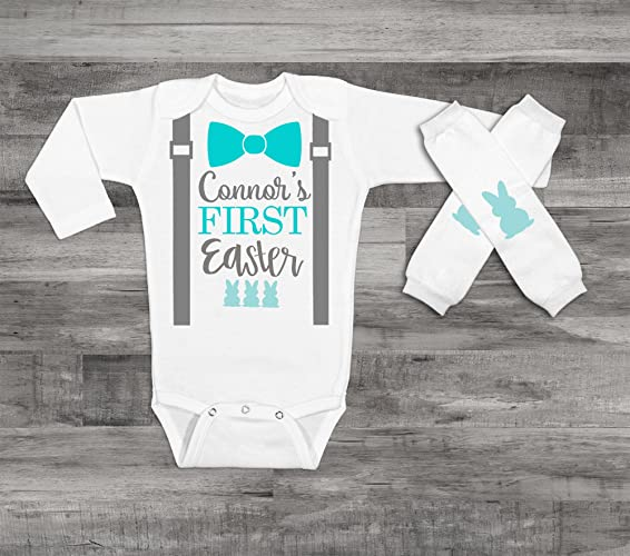 2d96ac741a9a Amazon.com  Baby Boy s 1st Easter Outfit Baby Boy Easter Shirt Boy s ...
