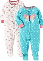 Carter's Baby Girls' 2-Pack Fleece Pajama Set