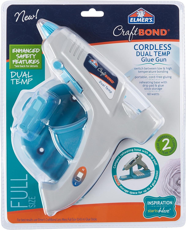 Elmer's Craft Bond Dual Temp Cordless Hot Glue Gun, 60W (E6052) : Office Products