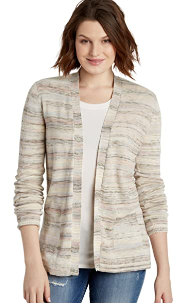 3de8f102bf Maurices Women s Spacedye Boyfriend Cardigan With Pointelle Stitching Small  Multi