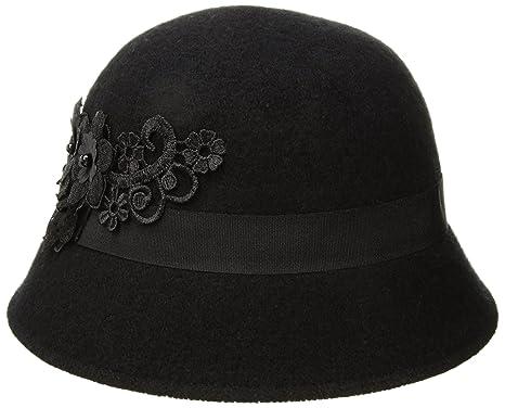 Betmar Women Mindenhall Cloche Black One Size Fits Most at Amazon ... 24c93ab7c6d
