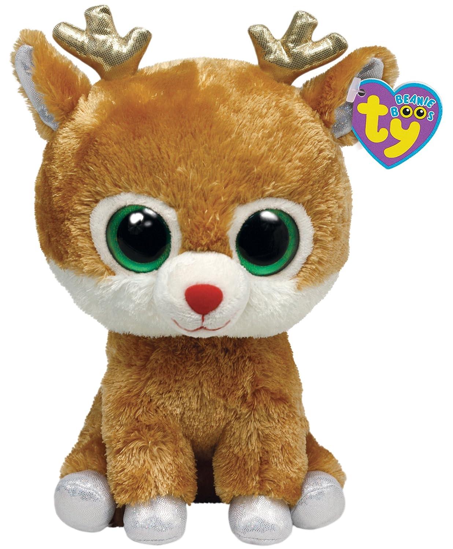 Ty Beanie Boos Buddy - Reno de peluche (tamaño mediano): Amazon.es: Juguetes y juegos