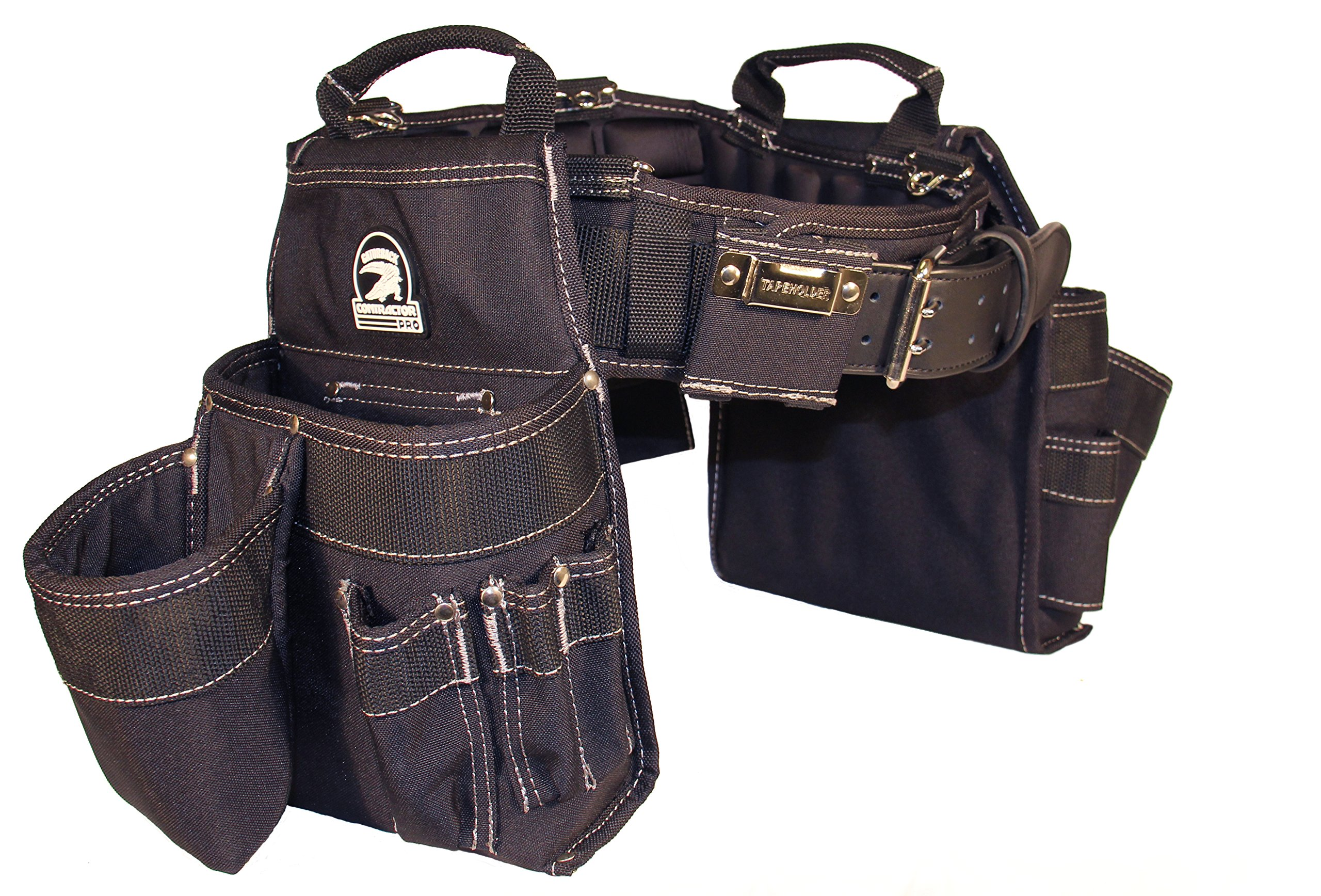 Gatorback Professional Carpenter's Tool Belt Combo w/ Air-Channel Pro Comfort Back Support Belt. (Medium 31-35 Inch Waist)