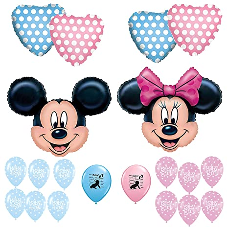 Amazon Mickey And Minnie Mouse Gender Reveal Baby Shower