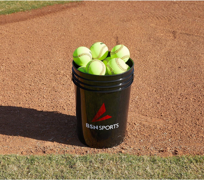 "BSN SPORTS Bucket w/2 dz 11"" Softballs (EA)"
