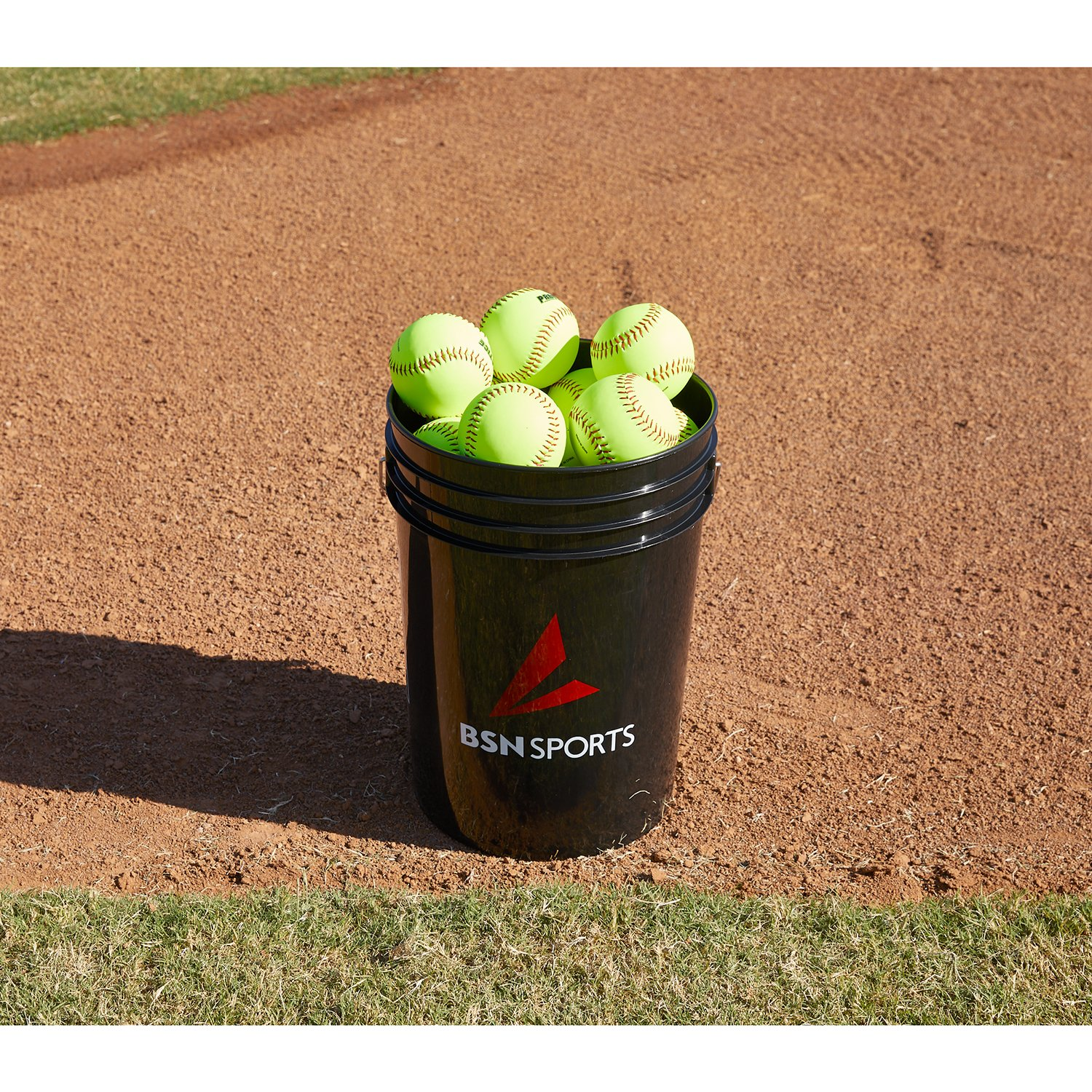 BSN SPORTS Bucket w/2 dz 11'' Softballs (EA)