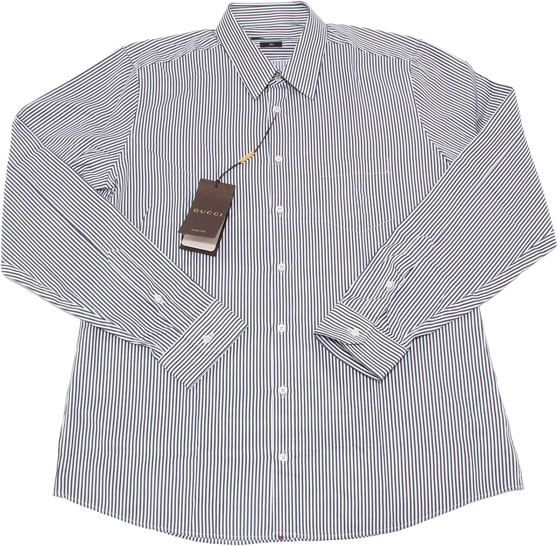 4730O camicia manica lunga slim GUCCI bianco verde uomo shirt men