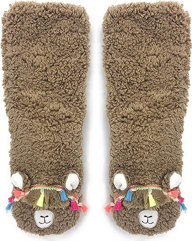 OoohYeah Women's Slipper Socks, Llama