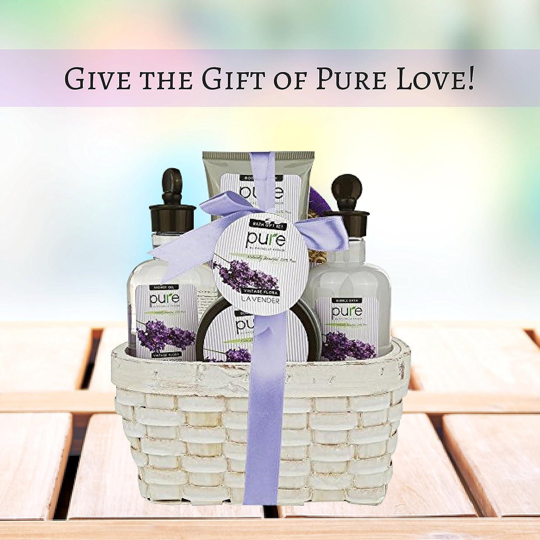 Amazon.com : Super Large Lavender Spa Gift Basket with Lavender ...
