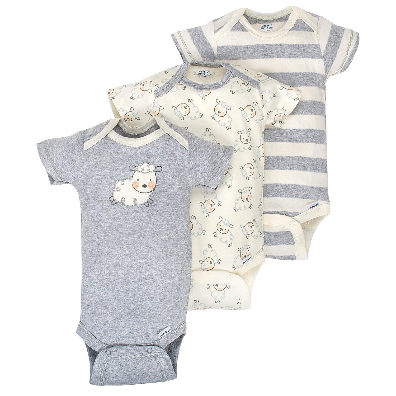 151cff3e20 Gerber Baby Infant 3 Pack Organic Short Sleeve Onesies Brand Bodysuit