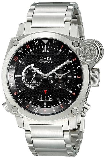 Oris hombre 690 7615 4154 MB BC4 vuelo temporizador analógico automático para hombre plateado reloj