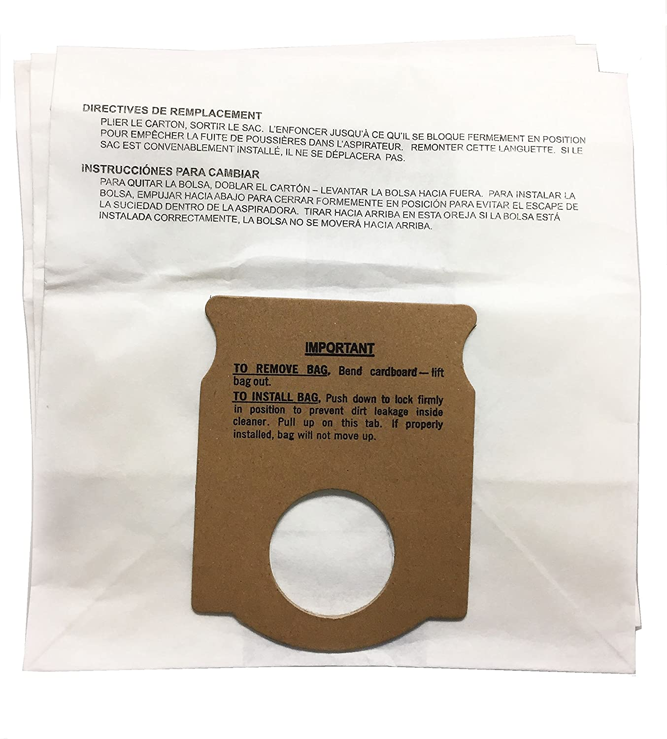 Kenmore 5041 / 5045 Style H Canister Vacuum Cleaner Bags for Old Kenmore Canister Vacuums, 3pk