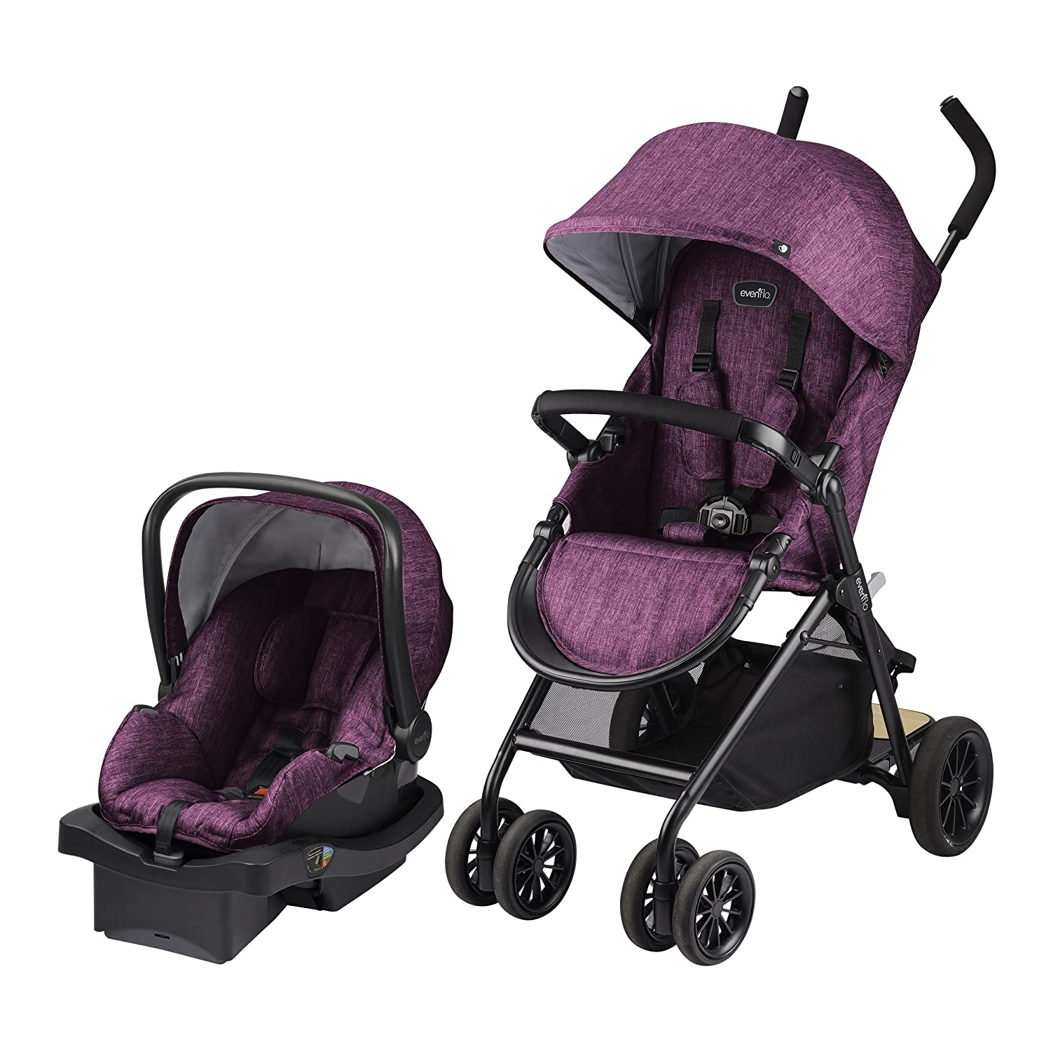 Evenflo Sibby Travel System with LiteMax, Raspberry, Black, Mauve, One Size 56211976
