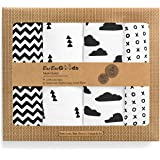 Muslin Swaddle Blankets – Soft Pure Cotton Muslin Blankets – 4 Pack of Breathable Swaddle Blankets – Unisex Baby Swaddle Blan