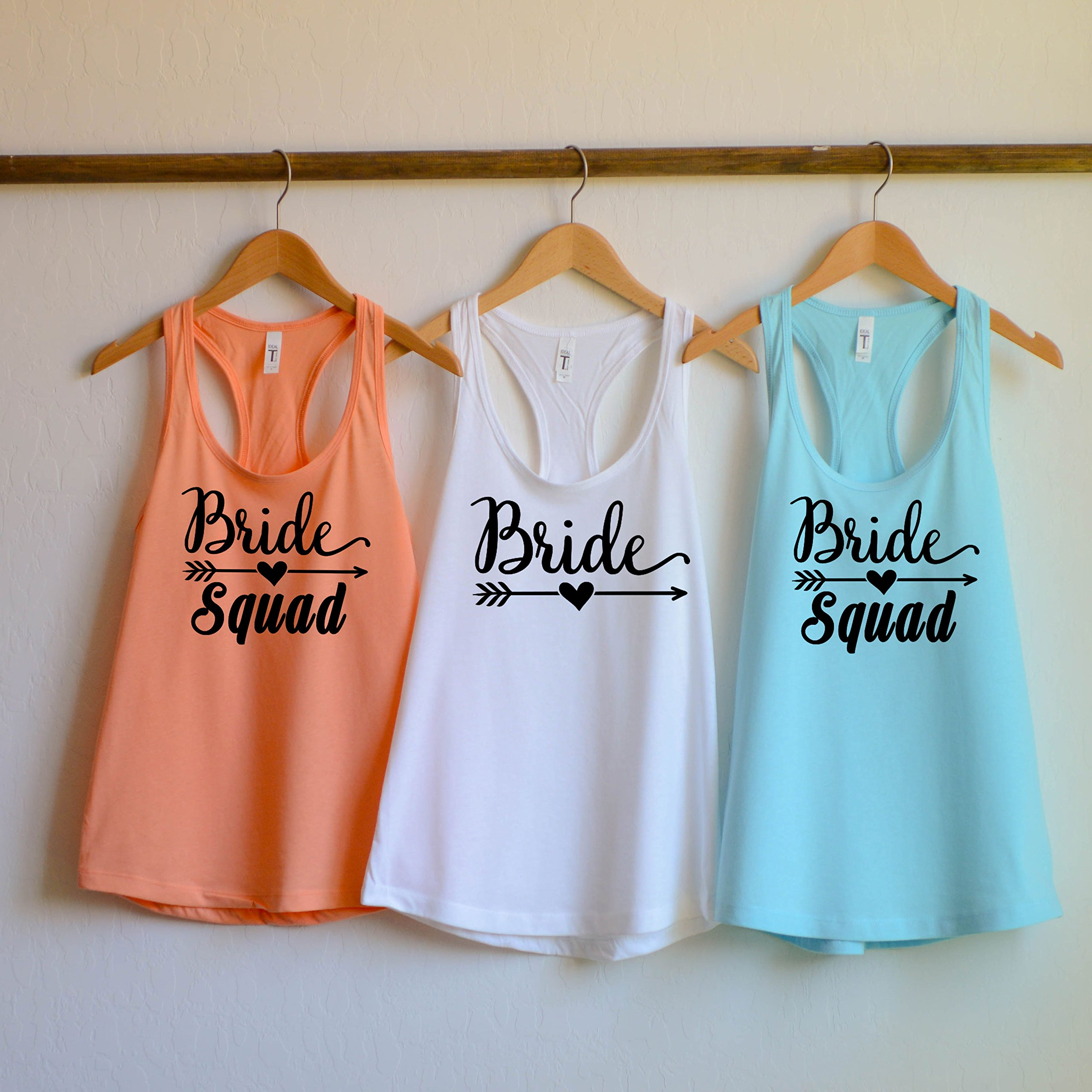 Bride Squad Bachelorette Party Shirts, Bridesmaid shirts, bridal party tank top, bride squad tank top, bridesmaids tank top
