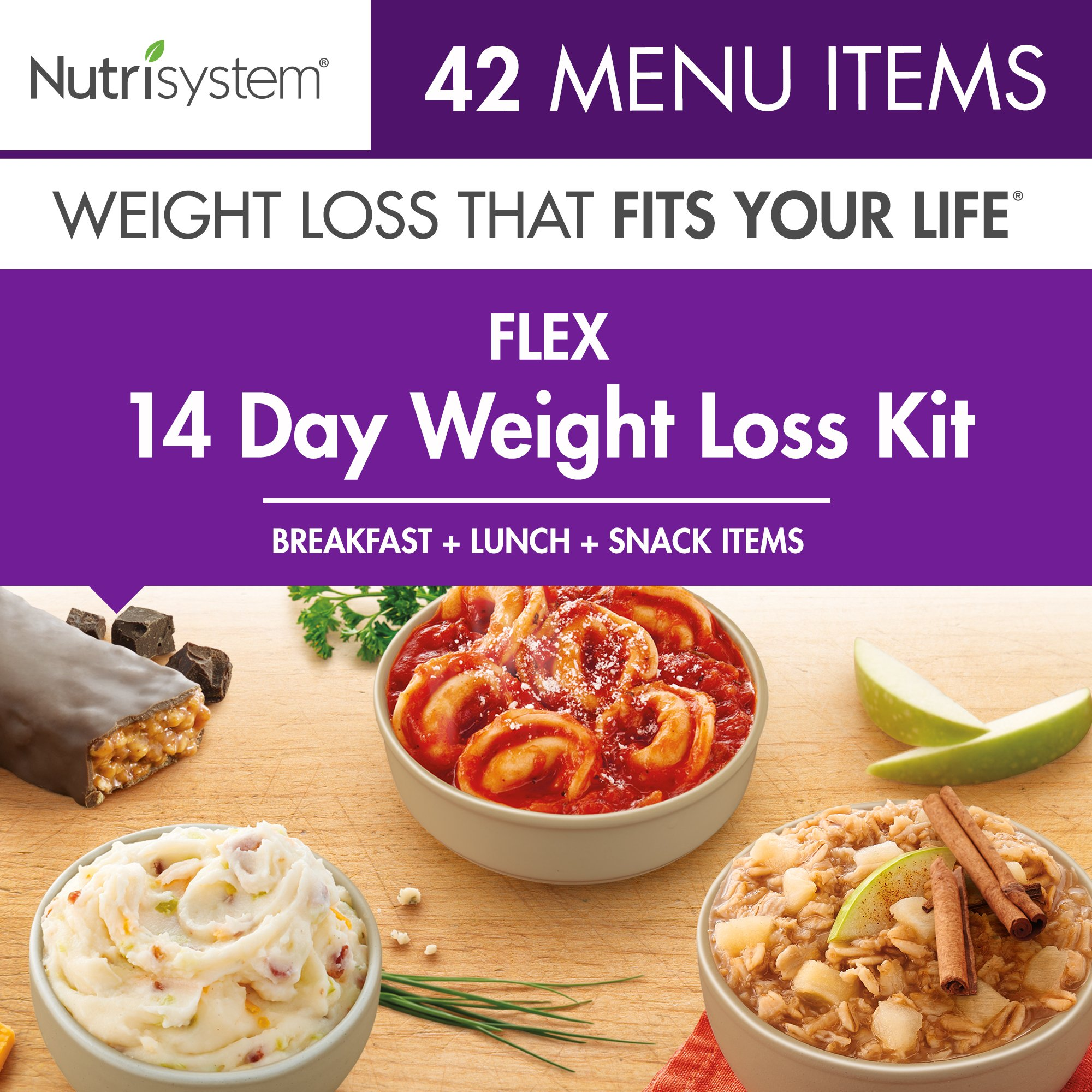 Nutrisystem® Flex 14 Day Weight Loss Kit, Includes Breakfasts, Lunches & Snacks for 14 Days, Perfectly Portioned for Weight Loss® by Nutrisystem