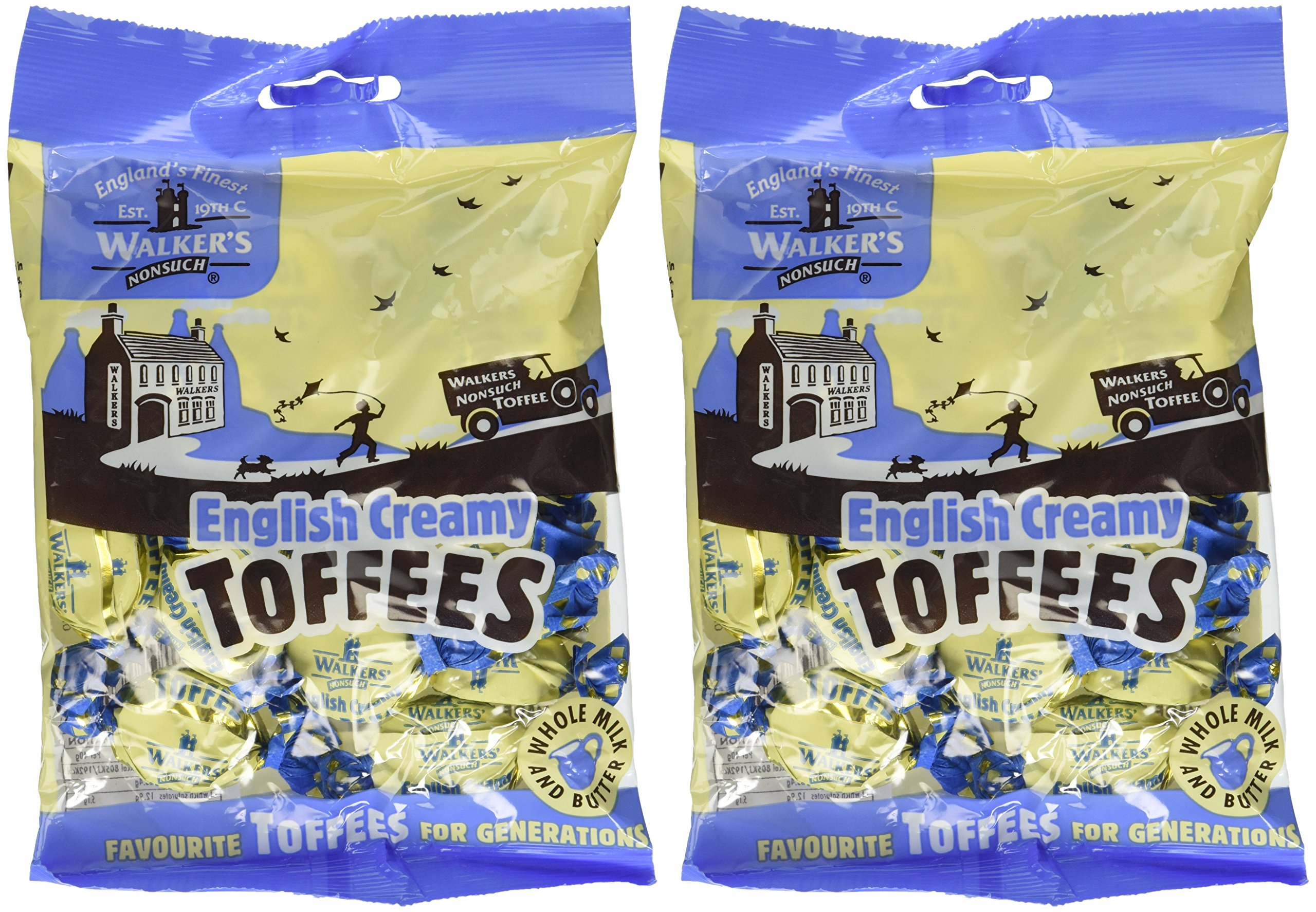 Walkers Nonsuch English Creamy Toffees, 5.3