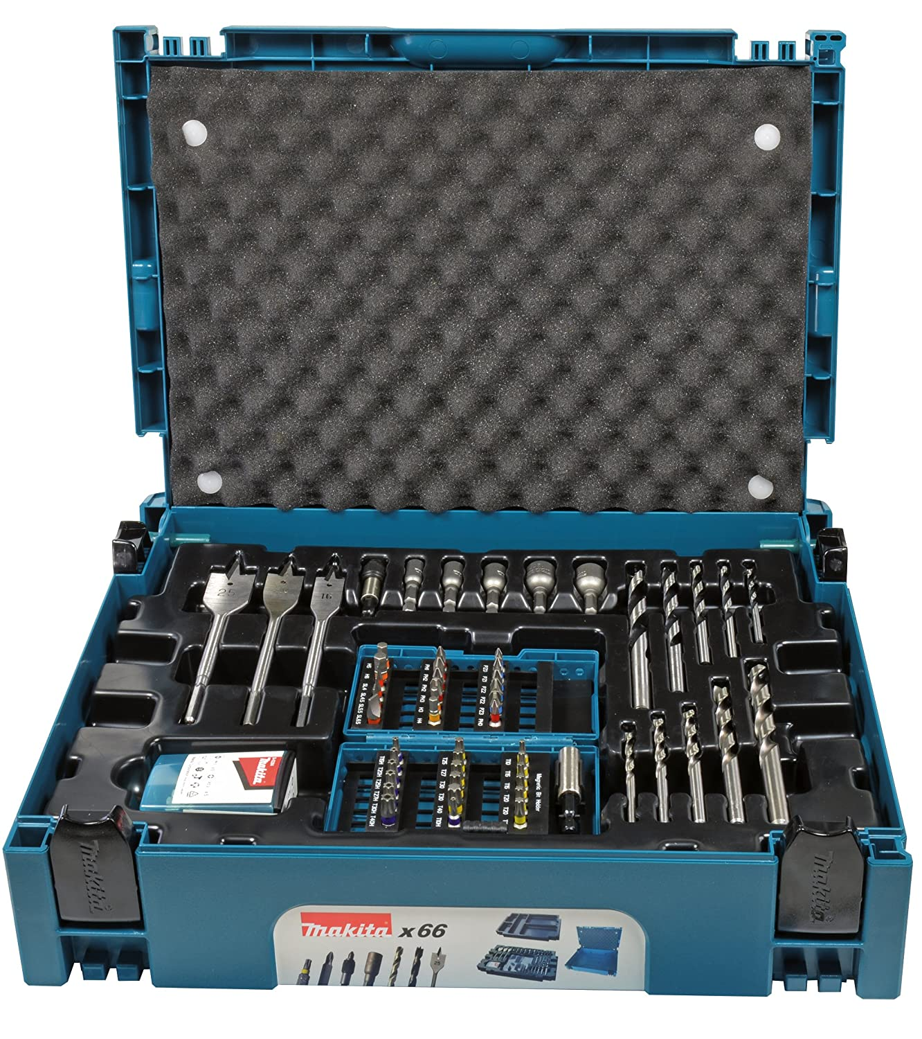 Makita B-43044 Drill and Bit Set, 0 V, Blue/Black