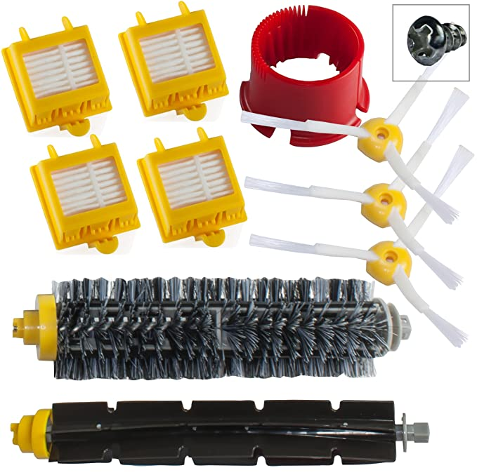 Reposición Pack Cepillos Kit para iRobot Roomba 700 Serie - Kit de mantenimiento con filtros y cepillos 760 770 780 790 comercializado por SchwabMarken: ...