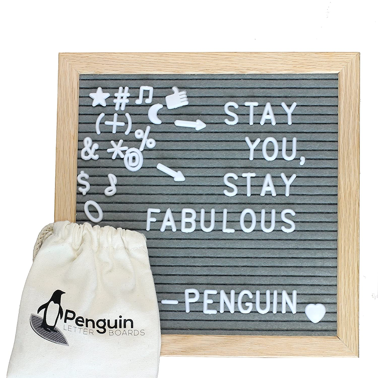 Felt Letter Board 10x10 with Letters – Felt Board with Letters/Message Board Includes 340 Felt Board Letters Zeque