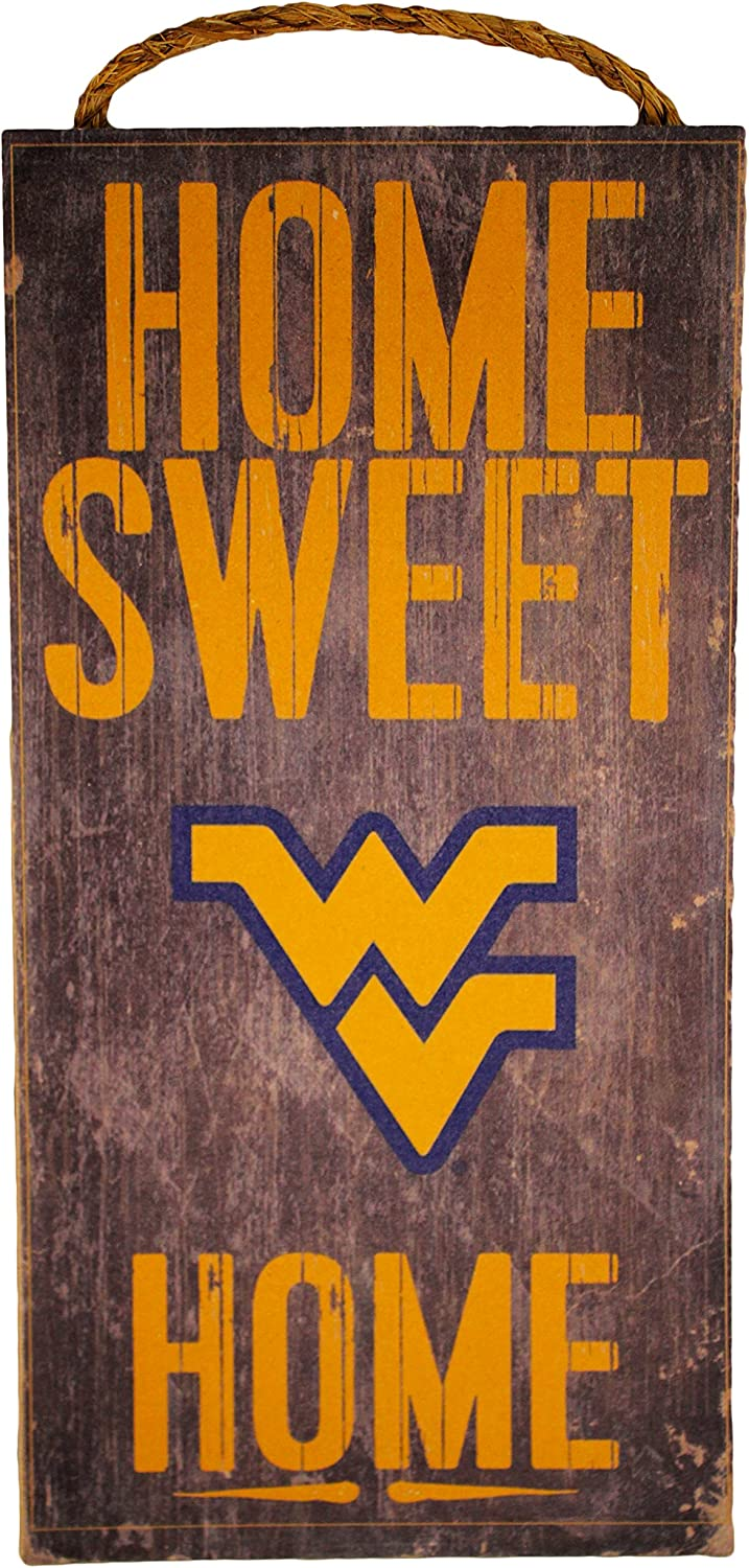 Fan Creations NCAA West Virginia Mountaineers 6 x 12 Home Sweet Home Wood Sign