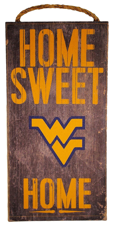 "Fan Creations NCAA West Virginia Mountaineers 6"" x 12"" Home Sweet Home Wood Sign"