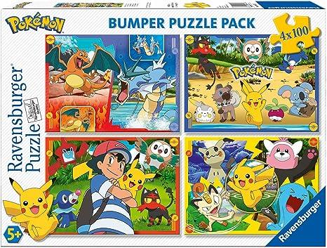 Ravensburger/ 6929 /Puzzle 4/x 100/Pieces Bumper Pack Pok/émon