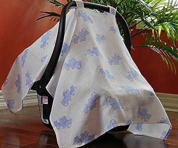 Car Seat Canopy Cover for Boys u0026 Girls Lightweight u0026 Breathable 100% Cotton & Amazon.com: Car Seat Canopy Cover for Boys u0026 Girls Lightweight ...