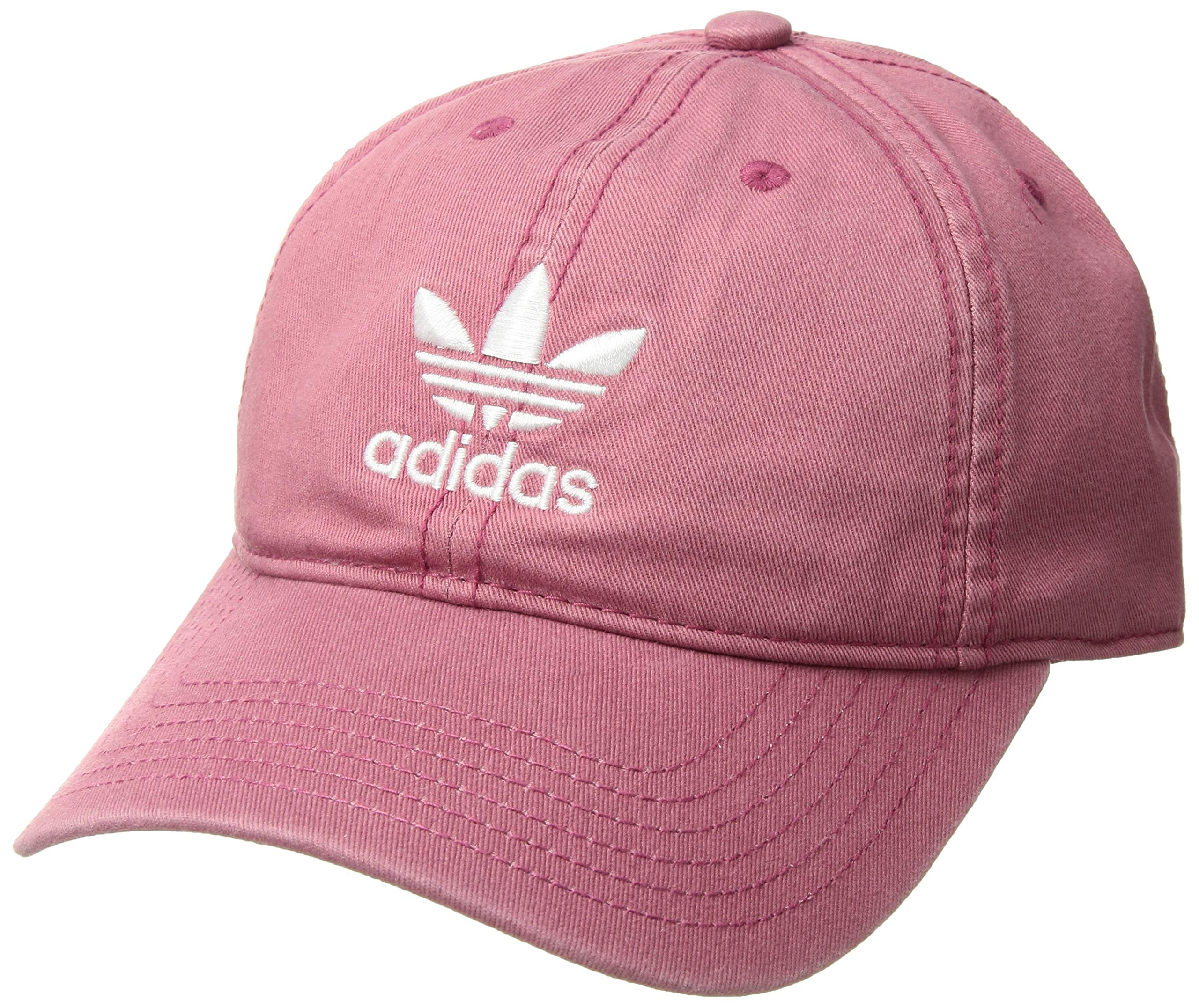 adidas Originals Standard Women's Relaxed Strapback, Trace Maroon/White, One Size