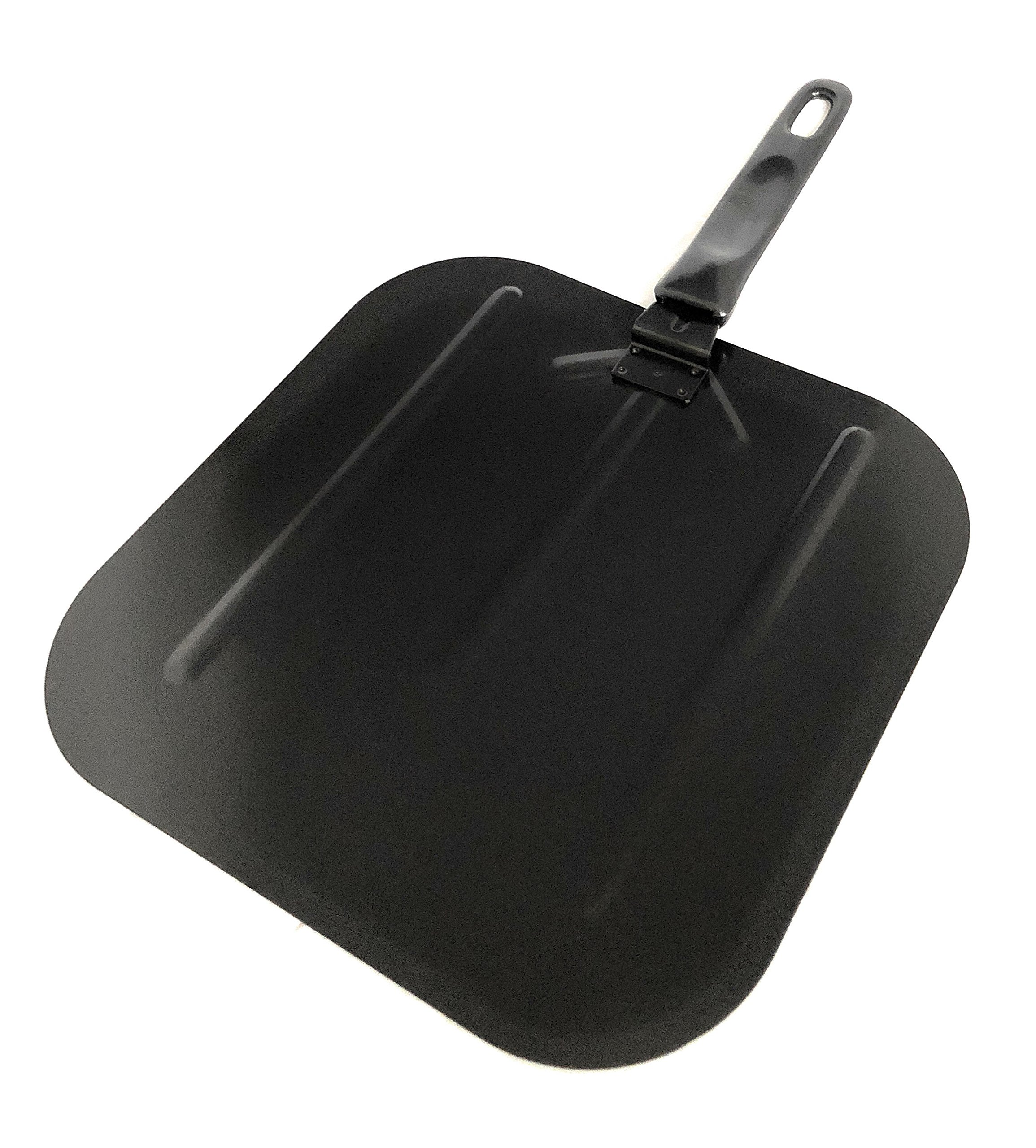 Pizza Peel – High Quality, Non-Stick Coated Pizza Paddle – Steel – Black – AVEX