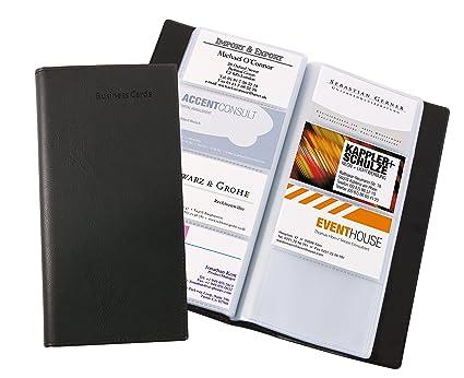 Sigel Vz172 Visitenkarten Mappe Schwarz Für 192 Karten