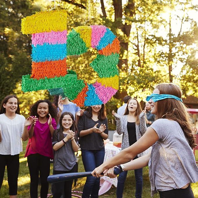 Relaxdays- Piñata Cumpleaños Número 1 sin Relleno, Papel,, 50,5 x 35,5 x 7,5 cm (10025189_903)