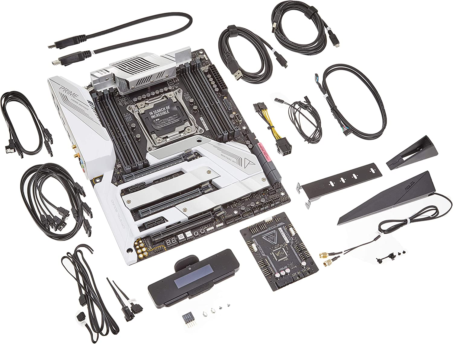 Asus Prime X299 Edition 30 ATX Motherboard (Intel X299) LGA 2066, DDR4 4266 MHz, Wi-Fi 6, 5 Gbps Ethernet, Type-C Thunderbolt 3 Ports, Triple M.2, USB 3.2 Front-Panel Connector & Aura Sync RGB
