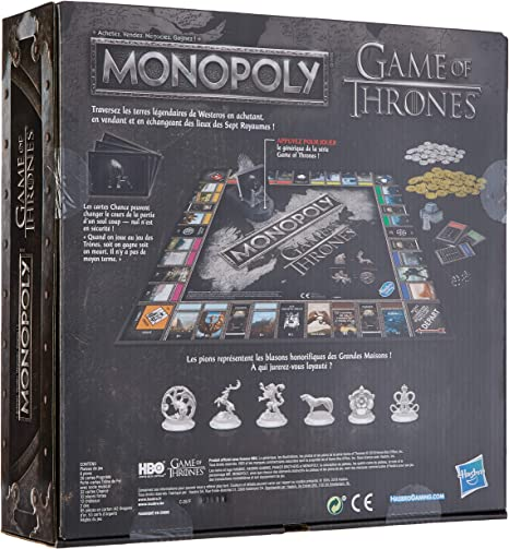 Monopoly – Juego de Societe Monopoly Game of Thrones Edition Collector – Juego de Bandeja – Version Francesa: Amazon.es: Juguetes y juegos