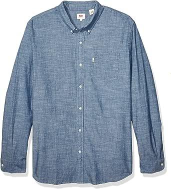 Levis Camisa de manga corta para hombre, talla grande y alta, clásica, con un bolsillo: Amazon.es: Ropa y accesorios
