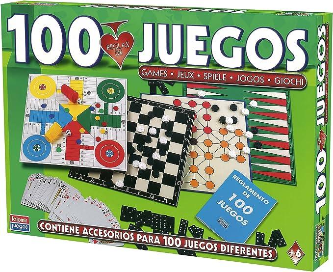 Falomir-100 100 Juegos Reunidos, Multicolor (32-1308): Amazon.es ...