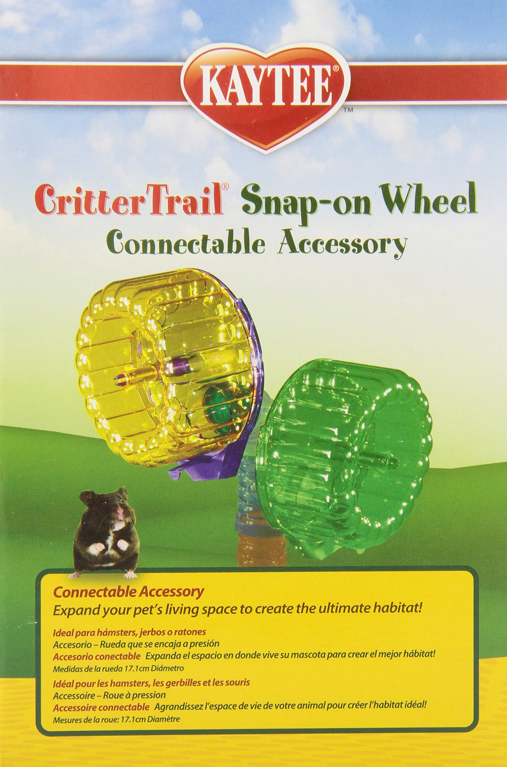 Kaytee CritterTrail Snap-On Comfort Wheel, Colors Vary