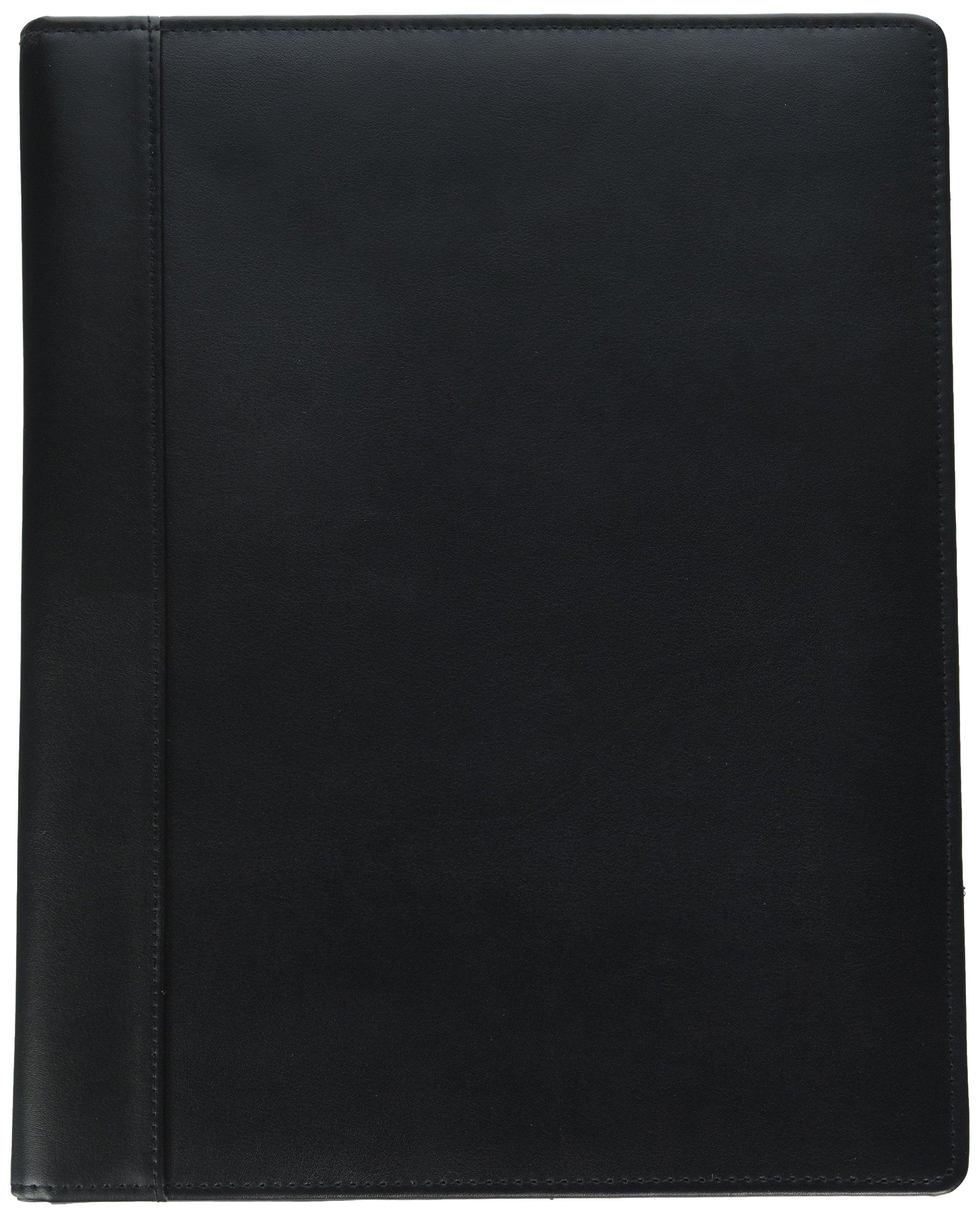Buxton Executive Leather Padfolio, 9-1/2'' x 12-1/2'', Black (BUXOC85006BK)