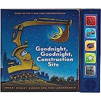 Goodnight Goodnight Construction Site Sound Book: (Construction Books for Kids, Books with Sound for Toddlers, Children…