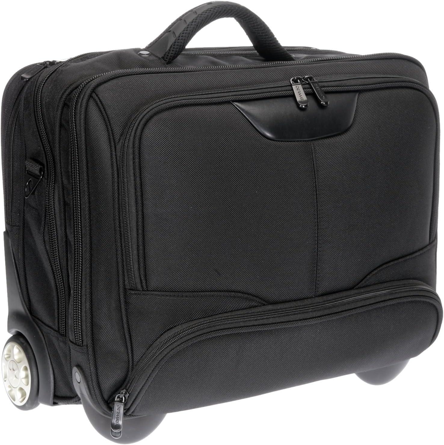 Dermata Maleta para portátil, con ruedas, con bolsillo acolchado extraíble, para portátil de 17pulgadas [41cm x 29cm] Negro L