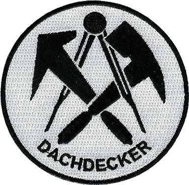 Dachdecker symbol  JOB Stick-Aufnäher Patch Zunft Emblem Wappen DACHDECKER Ø 8 cm ...