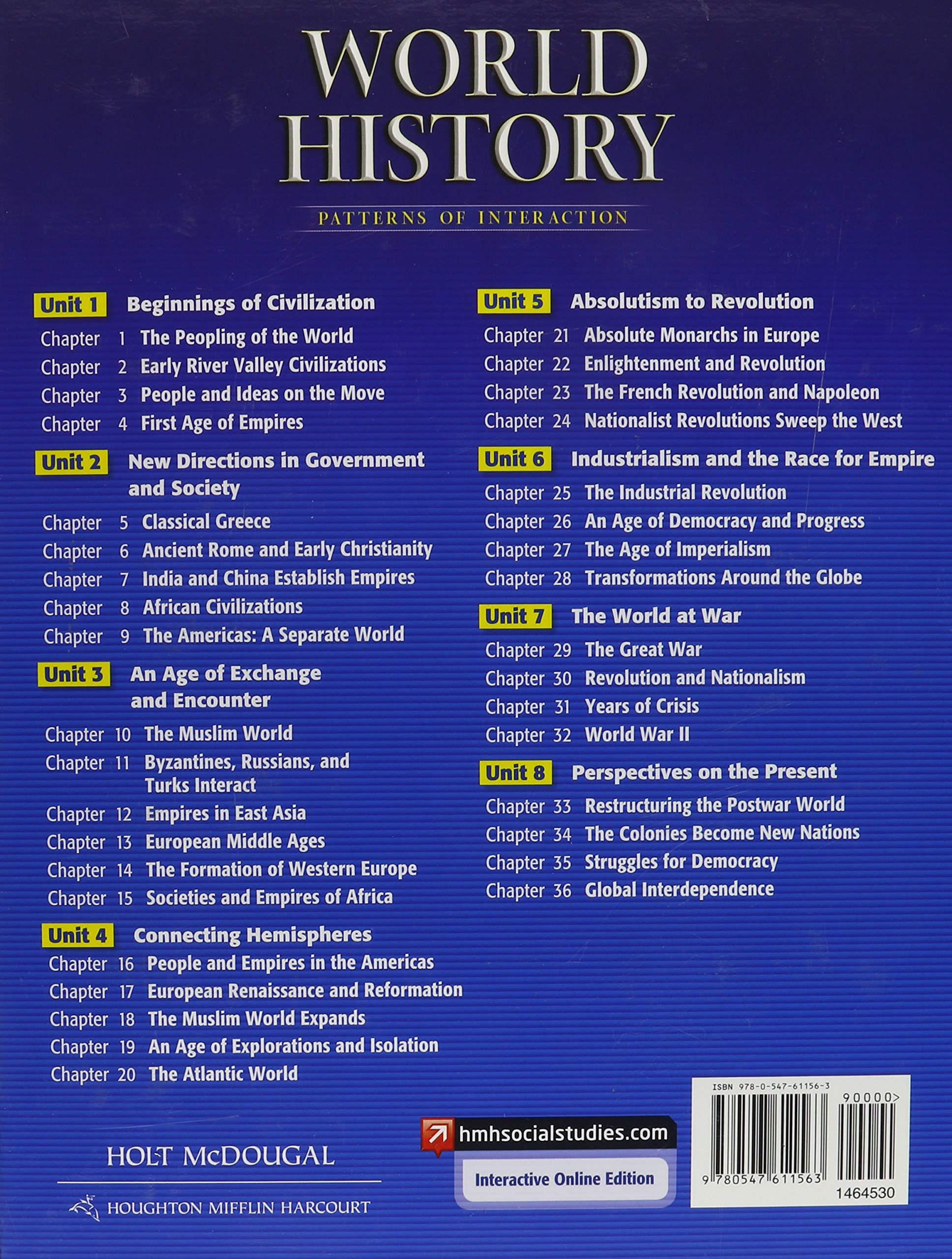 worksheet World History Patterns Of Interaction Worksheets holt mcdougal world history patterns of interaction 2012 new york student edition 9780547