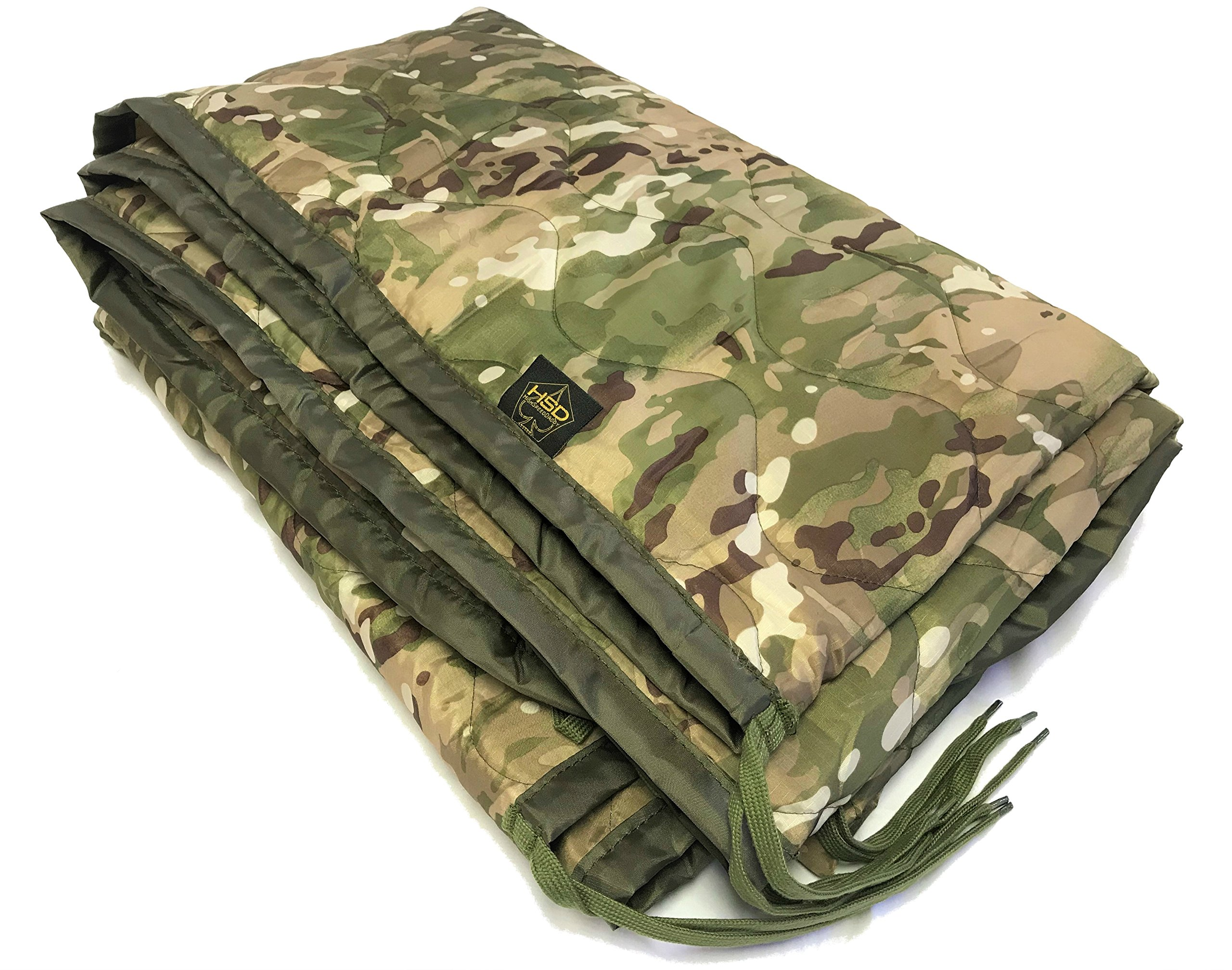 HighSpeedDaddy HSD Mini Woobie Military Style Poncho Liner Kids Baby Blanket (Multicam, Adult) by HighSpeedDaddy