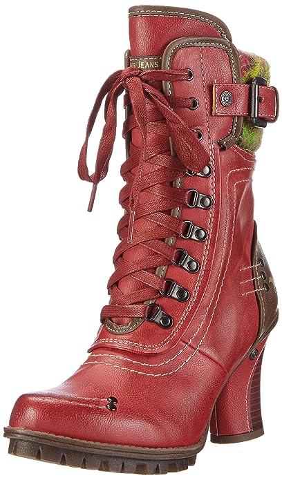 Mustang Damen  Stiefel rot