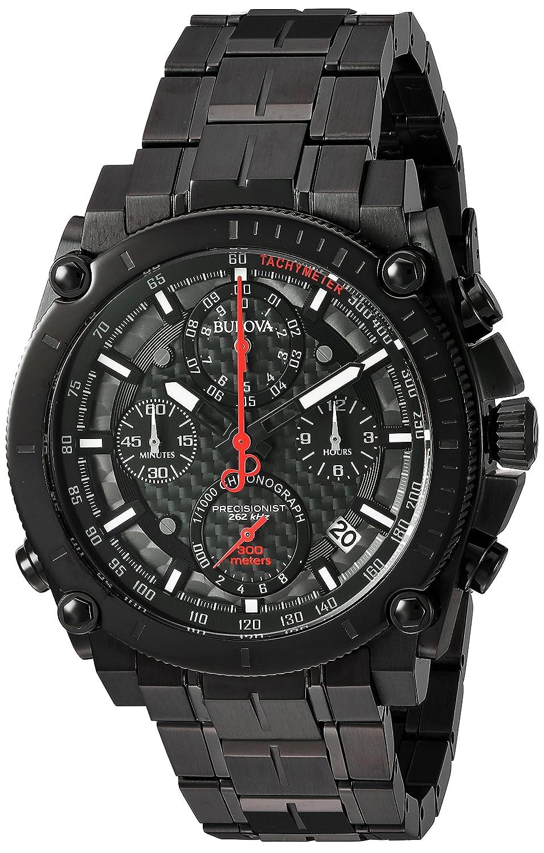 Amazon.com: Bulova Mens Precisionist Quartz Stainless Steel Watch, Color:Black (Model: 98B257): Bulova: Watches
