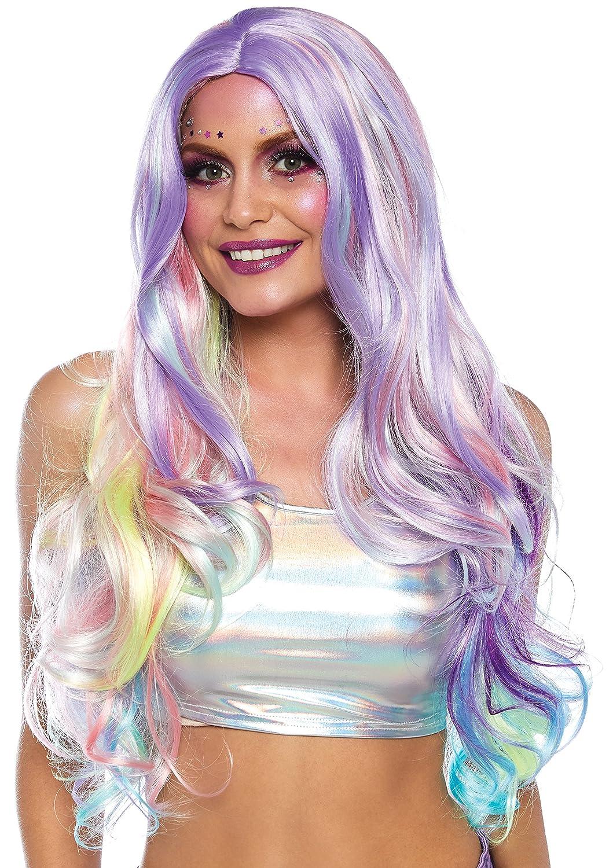 Leg Avenue Pastell Rainbow lang gewellt Perücke, eine Größe eine Größe A1532 10122