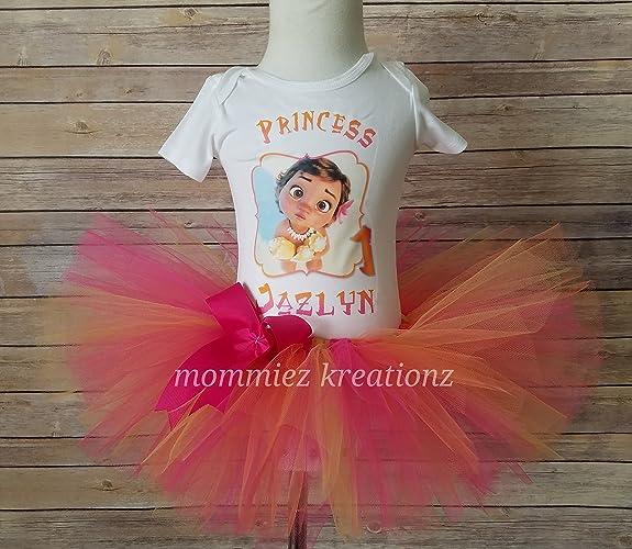 Amazon Moana Baby Tutu Set Outfit Birthday Shirt Handmade