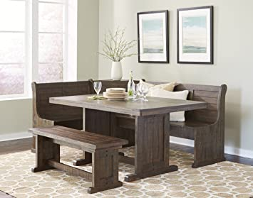 Corner Nook Dining Set With Storage